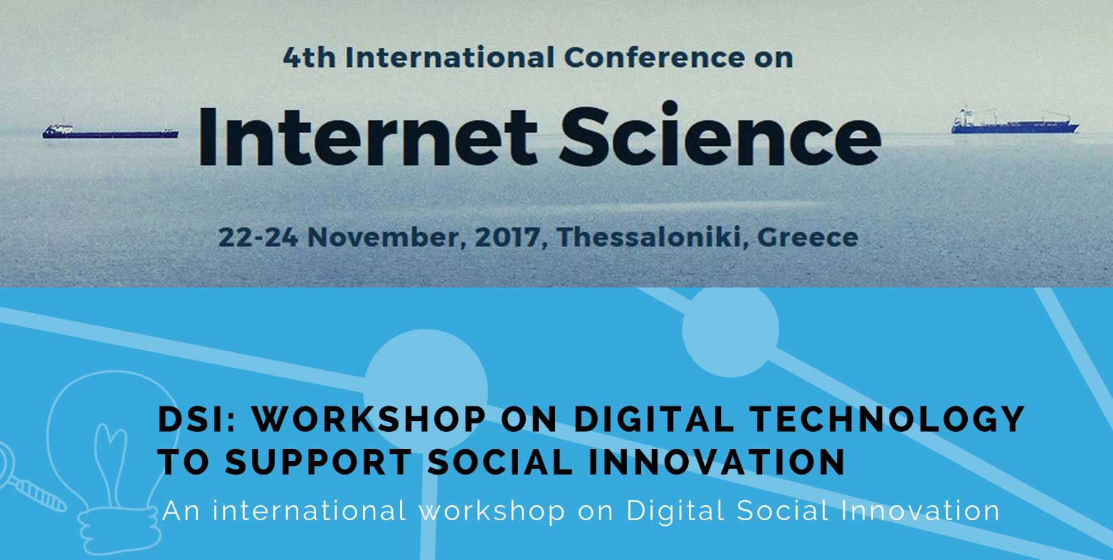 CAPS Workshop at the 4th International Conference on Internet Science: Digital Technology to support Social innovation