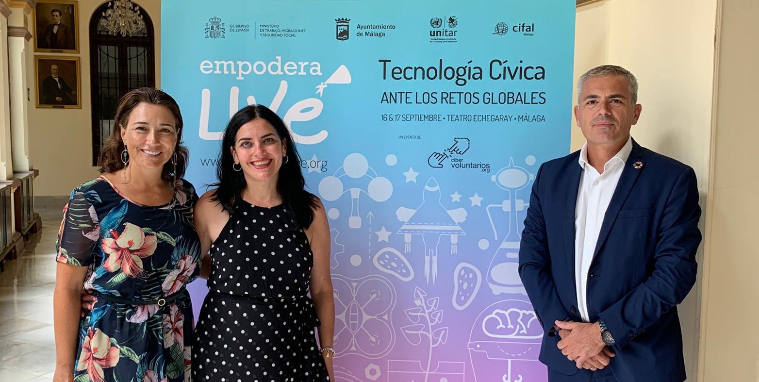 Málaga, punto de encuentro para expertos mundiales en tecnología cívica ante los retos globales con EmpoderaLIVE