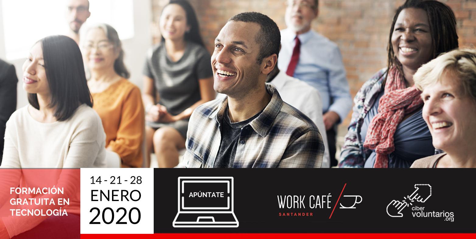 Nuevos talleres gratuitos para potenciar tus habilidades digitales con Cibervoluntarios y Work Café en Madrid