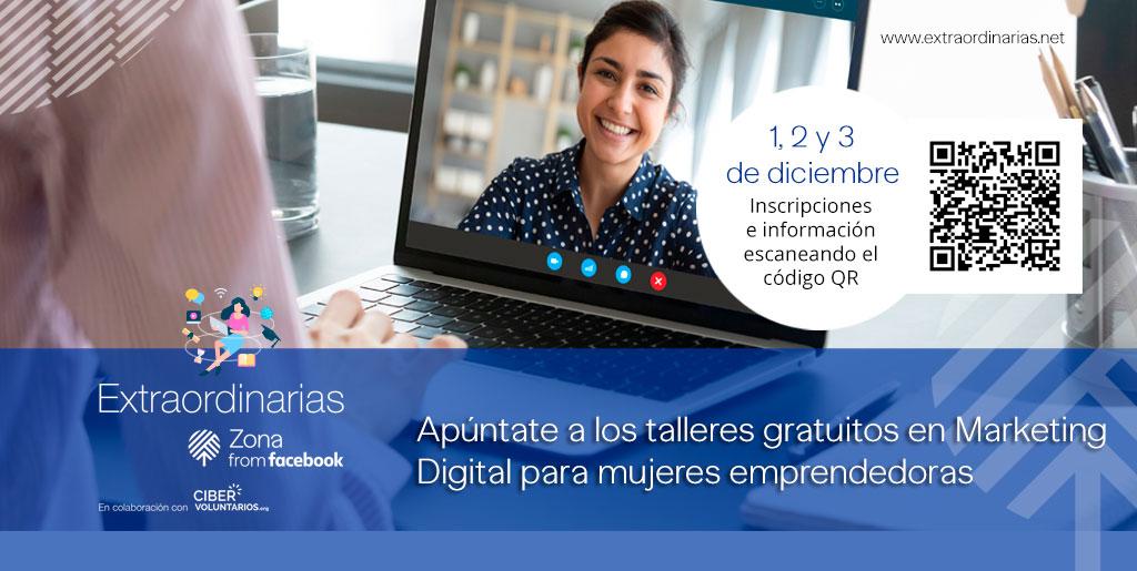 Fundación Cibervoluntarios organiza formación virtual gratuita para mujeres emprendedoras que busquen digitalizar su negocio