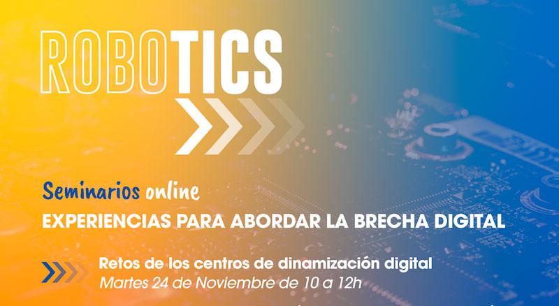 Fundación Cibervoluntarios en los Seminarios Robotics 2020, experiencias para abordar la brecha digital
