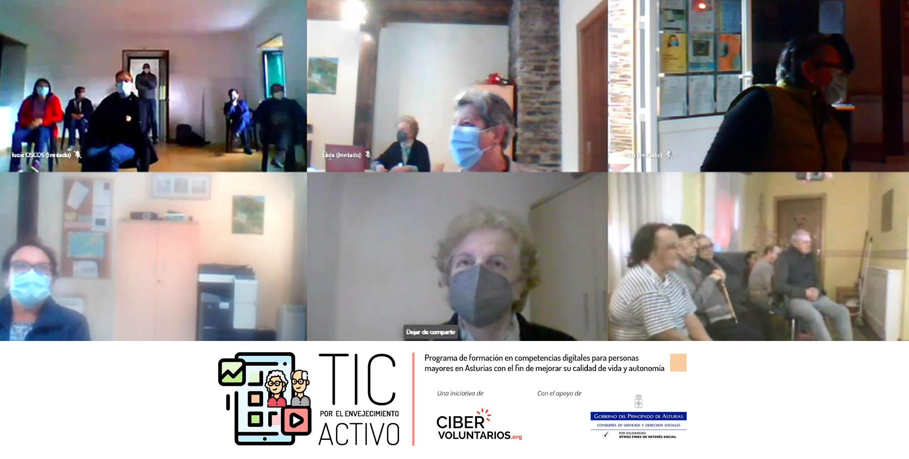 Cómo hacer una videollamada y disfrutar del ocio online: Nueva ciberformación para personas mayores en Asturias